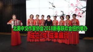 北美中文作家协会2018新春联欢会纽约举办  成立2年 成果瞩目