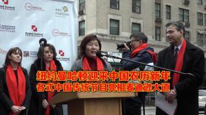 纽约曼哈顿迎来中国农历新年 各式中国传统节目亮相麦迪逊大道