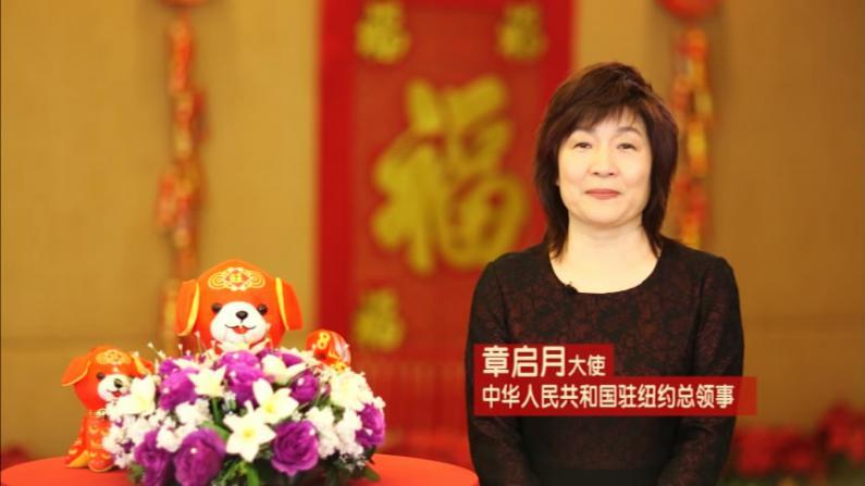 中国驻纽约总领事章启月新春贺词