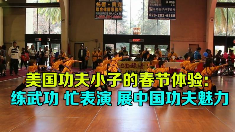中国传统武术吸引人 孩子们春节不忘练功夫