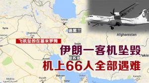 伊朗一客机坠毁  机上66人全部遇难