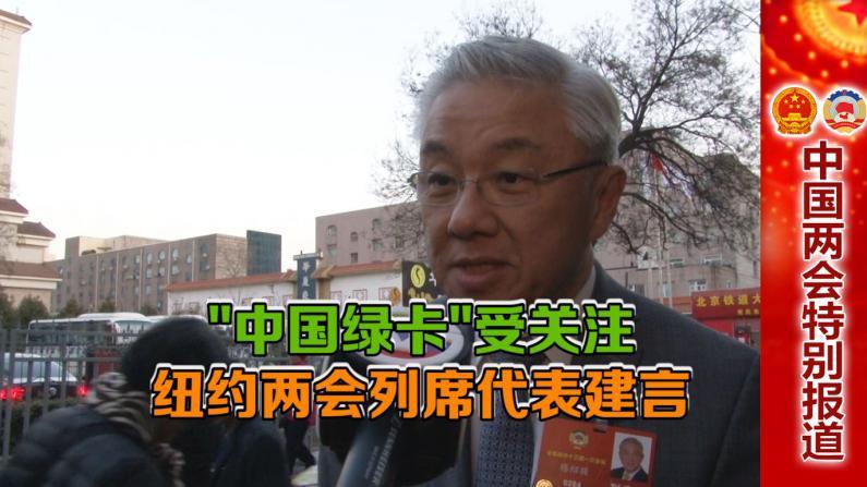 """""""中国绿卡""""受关注 纽约两会列席代表建言"""