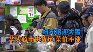 纽约将迎大雪 华人超市供货足 菜价不涨