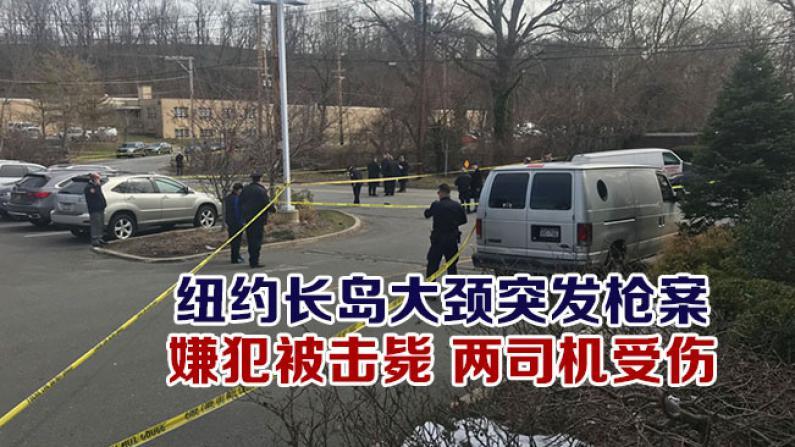 纽约长岛大颈突发枪案 嫌犯被击毙 两司机受伤