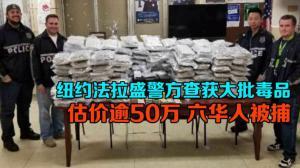 纽约法拉盛警方查获大批毒品 估价逾50万 六华人被捕