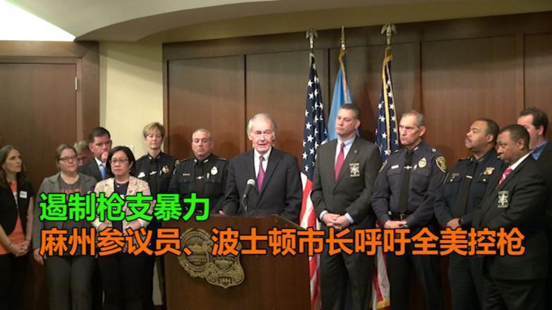 遏制枪支暴力 麻州参议员、波士顿市长呼吁全美控枪