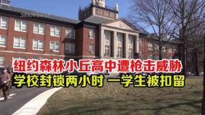 纽约森林小丘高中遭枪击威胁  学校封锁两小时 一学生被扣留