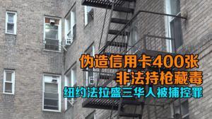 伪造信用卡400张 非法持枪藏毒 纽约法拉盛三华人被捕控罪