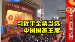 习近平全票当选中国国家主席