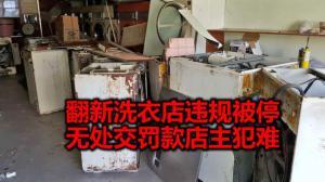 洗衣店翻新违规被迫停工 无处交罚款 华裔店主犯难