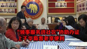 """中国驻纽约总领事馆""""新春办证""""获好评 逾千华裔长者办理健在证明"""