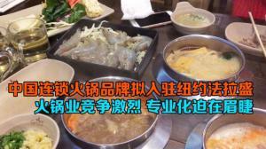 中国连锁火锅品牌拟入驻纽约法拉盛 火锅业竞争激烈 专业化迫在眉睫
