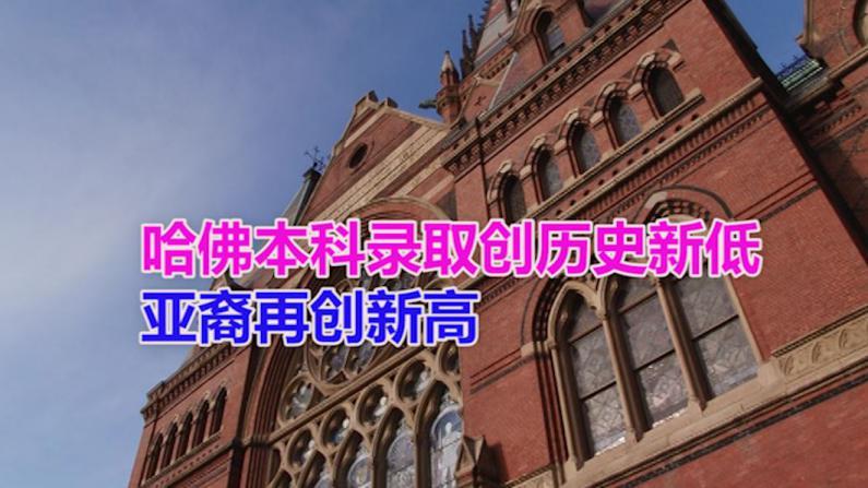 哈佛本科录取创历史新低 亚裔再创新高