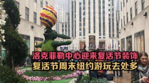 洛克菲勒中心迎来复活节装饰 复活节周末纽约游玩去处多