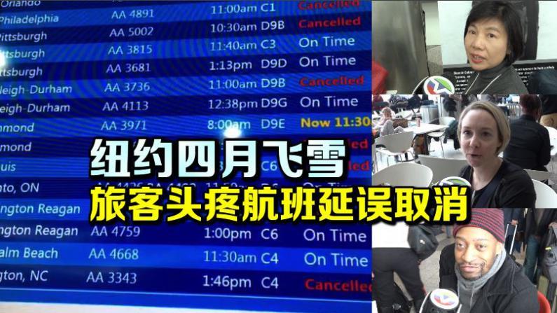 纽约降雪致航班小范围取消延误 拉瓜迪亚机场恢复迅速