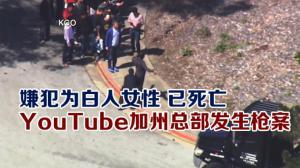 嫌犯为白人女性已死亡 YouTube加州总部发生枪案