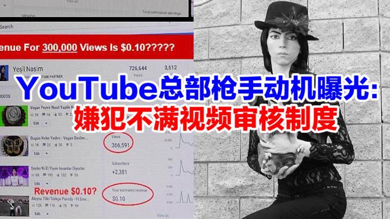 YouTube总部枪手动机曝光: 嫌犯不满视频审核制度