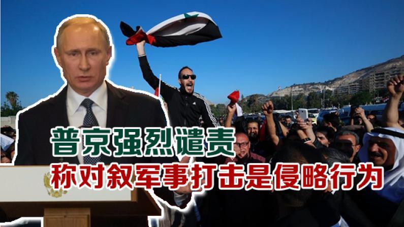 普京强烈谴责  称对叙军事打击是侵略行为