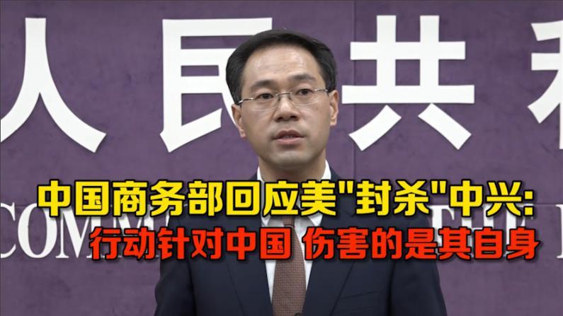 """中国商务部回应美""""封杀""""中兴: 行动针对中国 伤害的是其自身"""