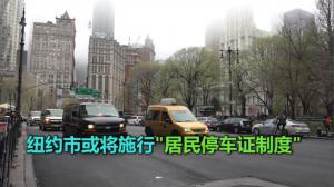 """纽约市或将施行""""居民停车证制度"""""""
