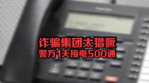 诈骗集团太猖獗 警方1天接电500通
