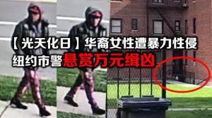 """""""光天化日""""华裔女性遭暴力性侵  纽约市警悬赏万元缉凶"""