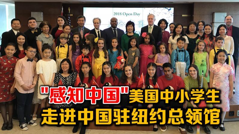 """""""感知中国""""美国中小学生走进中国驻纽约总领馆"""
