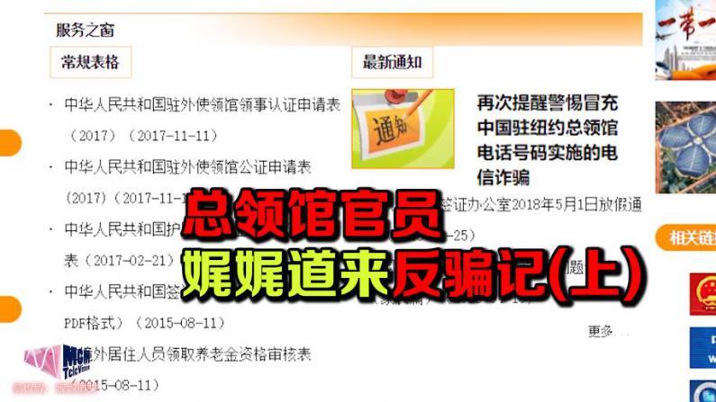 【高娓娓:娓娓道来】总领馆官员娓娓道来反骗记(上)