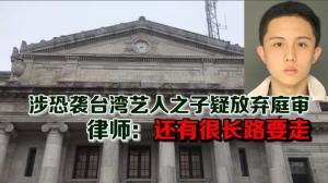 涉恐袭台湾艺人之子疑放弃庭审 律师:还有很长路要走