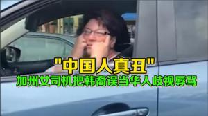 """""""中国人真丑"""" 加州女司机把韩裔误当华人歧视辱骂"""