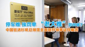 """停车难 挨罚单 怎么破?中国驻洛杉矶总领馆提升领事证件服务解决""""老大难"""""""