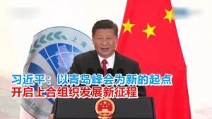 习近平:以青岛峰会为新的起点 开启上合组织发展新征程
