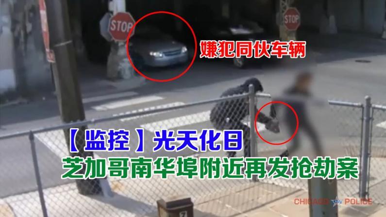 【监控】光天化日 芝加哥南华埠附近再发抢劫案!