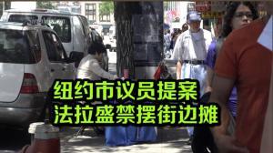 纽约市议员提案法拉盛禁摆街边摊