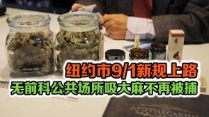 纽约市9/1新规上路 没前科公共场所吸大麻不再被捕