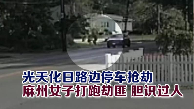 光天化日路边停车抢劫 麻州女子打跑劫匪 胆识过人