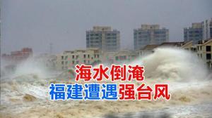 海水倒淹 福建遭遇强台风