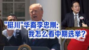 挺川华裔李忠刚:美中贸易战牵动华裔的心 望两国政府发挥智慧