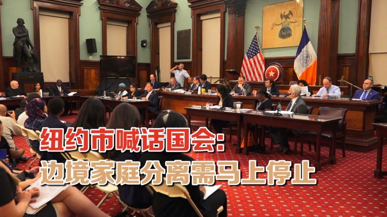 纽约市议会呼吁国会停止川普政府家庭分离政策