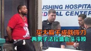 买大麻不成就拔刀 两男子纽约法拉盛街头斗殴