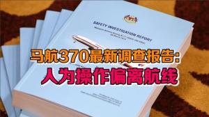 马航370最新调查报告:人为操作偏离航线