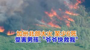 """加州北部大火 至少6死 受害男孩:""""爷爷快救我"""""""