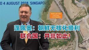 蓬佩奥:朝鲜无核化顺利 联合国:并非如此!