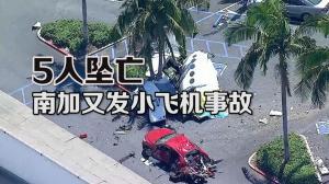 小型飞机坠毁南加小城市中心 机上5人遇难