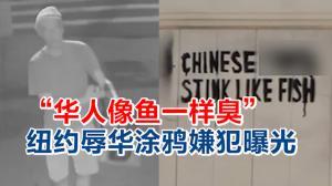 """""""华人像鱼一样臭"""" 纽约辱华涂鸦嫌犯曝光!"""