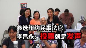 华裔纽约市民事法官参选人访华社  李昌永:投票就是发声维权