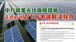 中方就美光伏保障措施 正式启动WTO争端解决程序