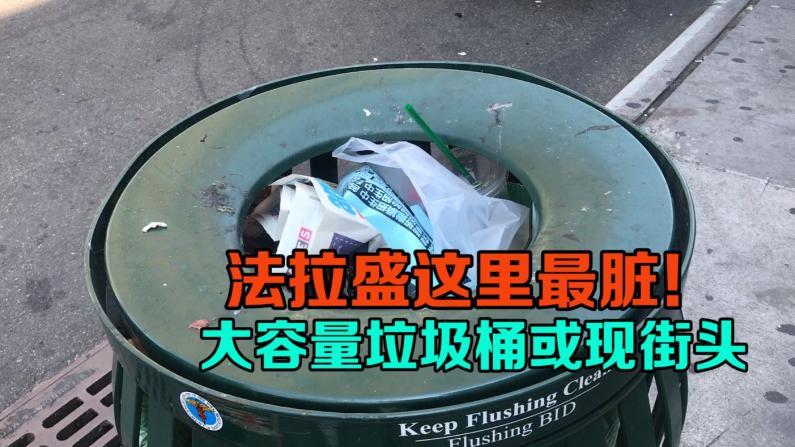 纽约法拉盛这里最脏! 大容量垃圾桶或现街头