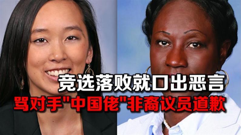 """竞选落败竟口出恶言 骂对手""""中国佬""""非裔议员道歉"""