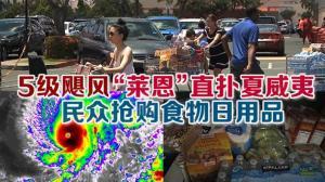 """5级飓风""""莱恩""""直扑夏威夷  民众抢购食物日用品"""